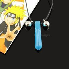 New Hot Naruto Hokage Uzumaki Blue Crystal Anime Tsunade Necklace Cosplay EVHG