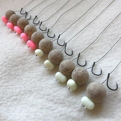 Details about  /10 X HAIR RIGS LOADED WITH 20mm TIGER NUT /& MAPLE HALO POP-UPS CARP FLYNSCOTSMAN