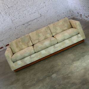 Image Is Loading Floating Tuxedo Style Sofa In The Manner Of