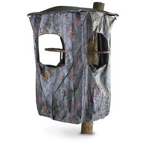 Universal-Tree-Stand-Blind-Kit-Deer-Hunting-Big-Game-Camo-Cover-3-Windows-Stakes