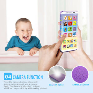 Educational Smart Phone Toy USB Port Touching Screen for Child Kid Baby