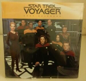 Star-Trek-Voyager-2001-Wall-Calendar-Sealed-Collectable-Starfeet-Sci-Fi