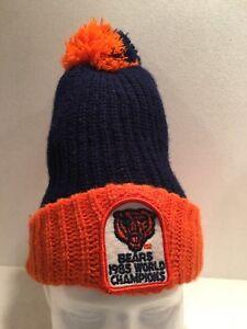 27f40ec89f2d7f Chicago Bears Super Bowl XX Champs 1985-86 Winter Hat Knit Pom Cap ...