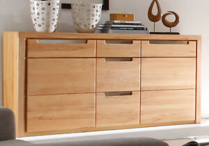 sideboard kernbuche wohnzimmer kommode esszimmer anrichte. Black Bedroom Furniture Sets. Home Design Ideas