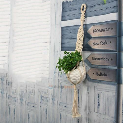 Vintage Macrame Plant Hanger Flower Pot Holder String Hanging Rope Wall Art
