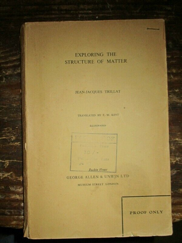 Exploring the Structure of Matter 1959 very rare Proof copy