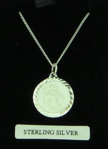 Collar de plata esterlina San Cristóbal Proveedor Reino Unido libre de caja