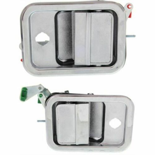 New Front Set Of 2 LH /& RH Exterior Metal Door Handle All Chrome Fits FL112