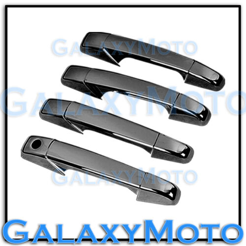 07-13 GMC Yukon+Yukon XL+Sierra+Silverado Black Chrome 4 Door Handle no KH Cover