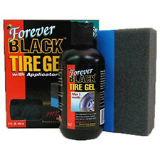 Forever Black Car Care Tire Dressing Gel, Foam Applicator, 8 fl oz black pigment
