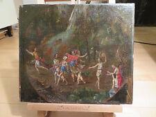 Sconosciuto PLATINI-bachanten danza non firmato fine del 17 secolo