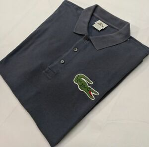 2f3a7b0bb2 Lacoste Polo Shirt Large Mens Short Sleeve Pique Knit BIG CROC Size ...