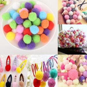 100Pcs Pom Pom Round Wool Felt Balls Hand Beads Nursery Christmas DIY Craft