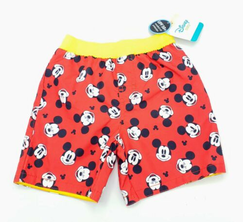 Disney Mickey Mouse Infant Boys Swim Trunks Mesh Lined NWT Various Sizes