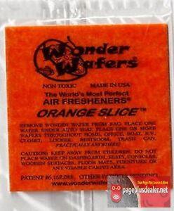 16- Wonder Wafers ORANGE Slice~ Scent~Amazingl<wbr/>y Fresh~ Air Freshener