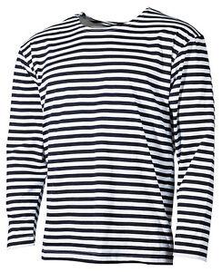 on sale fcc68 e04aa Details zu Streifen T- Shirt langarm telnyaschka S -XXXL тельняшка WMF WDW  russische marine
