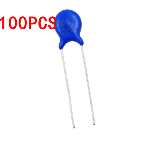 100PCS 2KV 820PF 821 10/% High Voltage Ceramic Capacitor