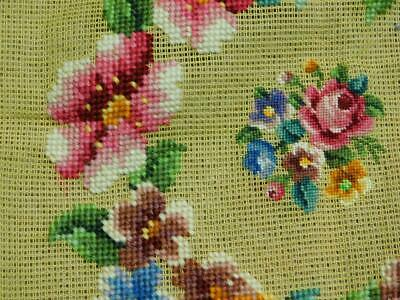 Tapestry cushion compled floral tapestry seat pad project picture to complete