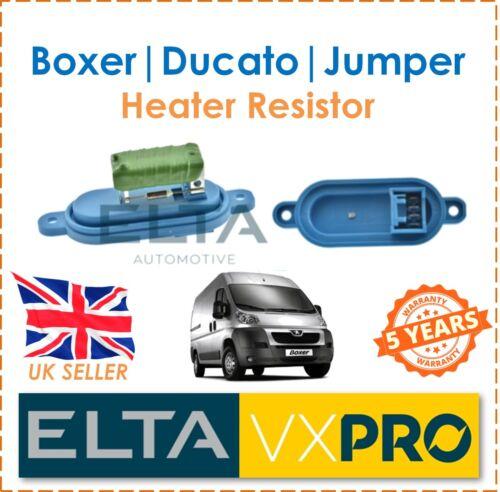 For Boxer Ducato Jumper 2.0 2.2 2.8 2002 ELTA Interior Heater Blower Resistor