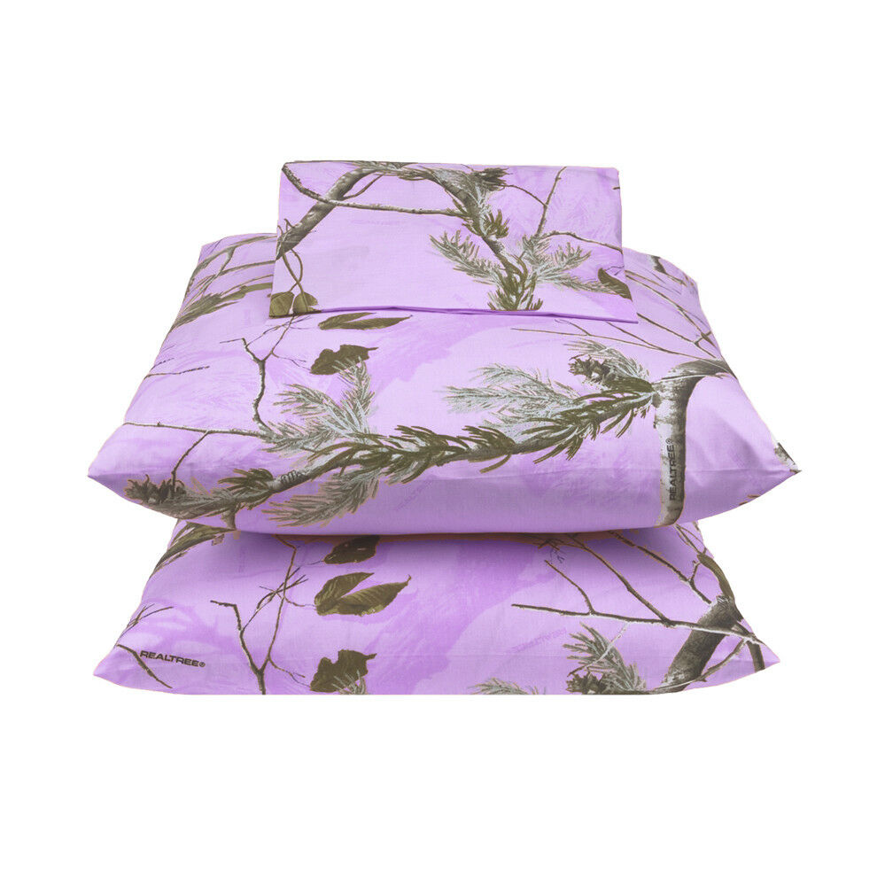 Realtree All Purpose Lavender Sheet Set Camo Various Größes With FREE Shipping