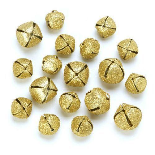 Craft Bells 30 Gold 18mm Jingle Bells for Crafts