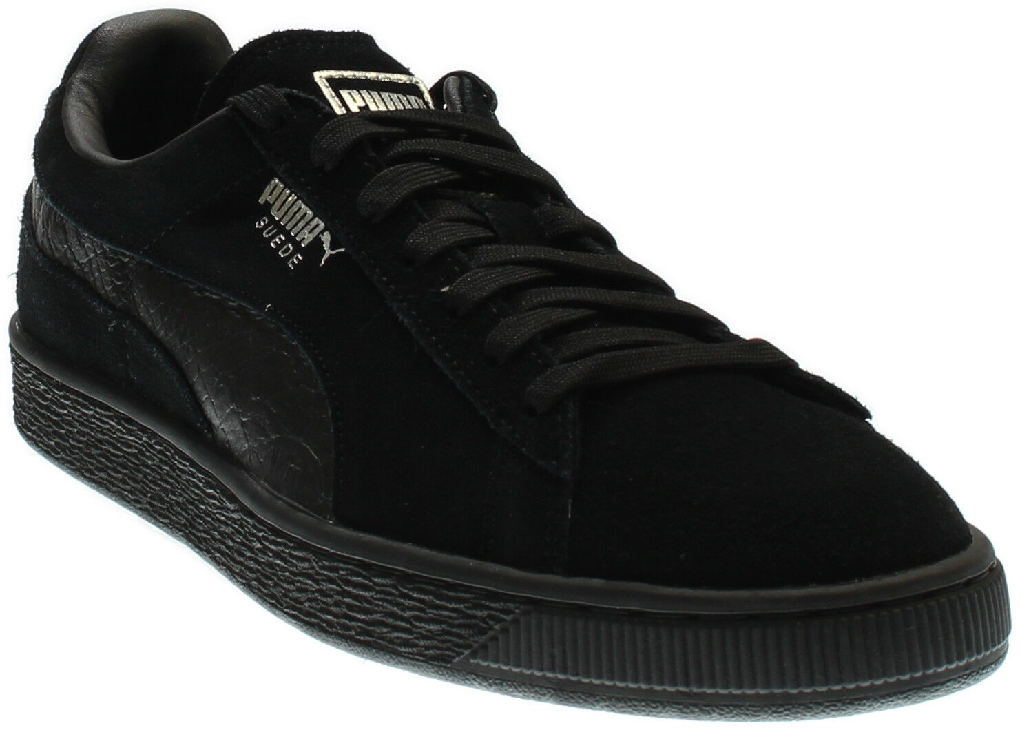 Puma SUEDE CLASSIC MONO REPTILE - Black - Mens The latest discount shoes for men and women