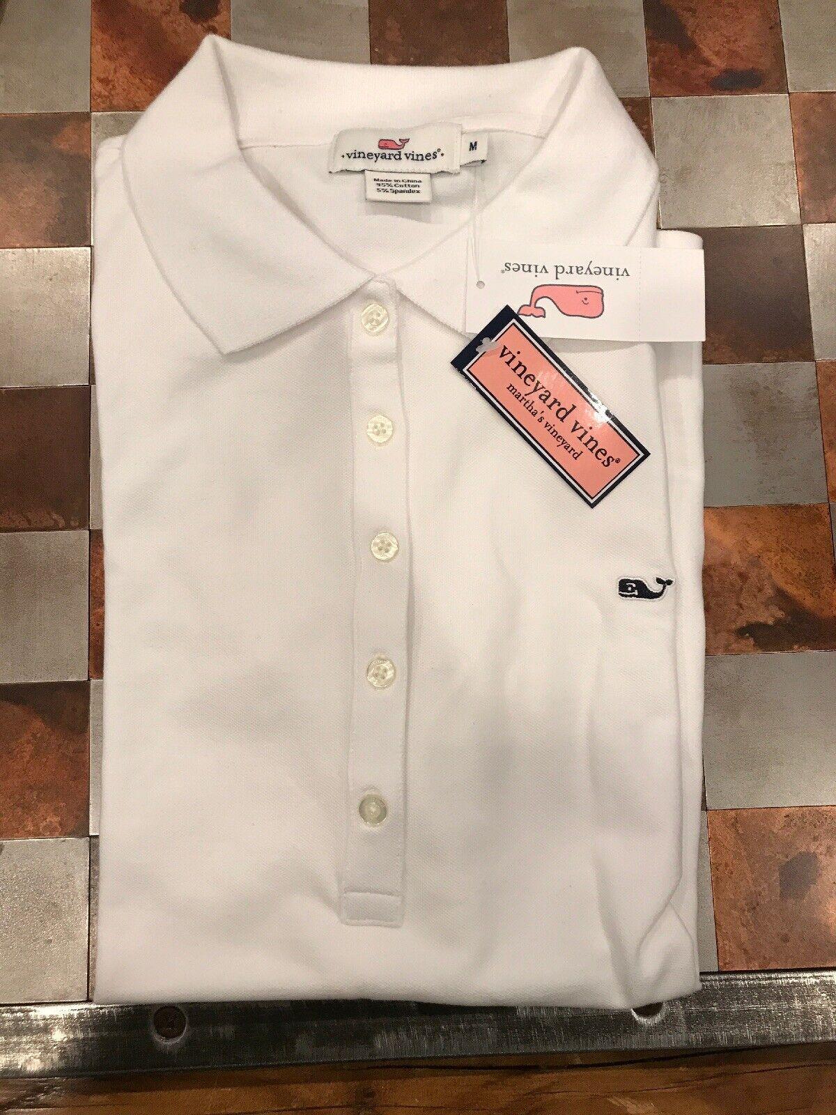 damen's Vineyard Vines Weiß Polo Shirt - Medium NWT