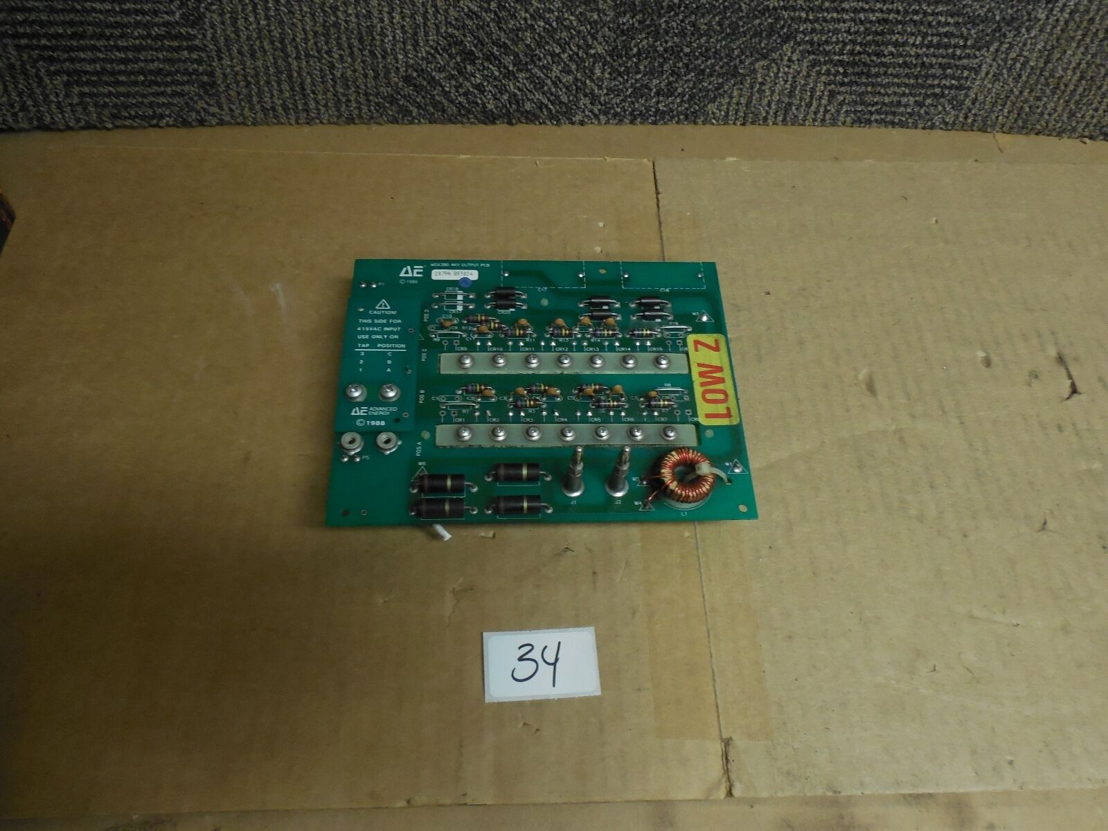 AE ADVANCED ENERGY MDX380 4KV OUTPUT PCB CIRCUIT BOARD 5252215-A 2302215-A