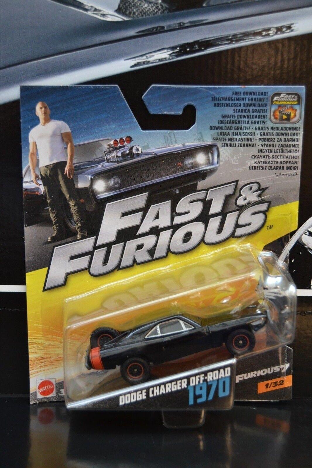 Furious 1970 Dodge Charger  Off Road 1:55  Neu /& OVP Mattel Fast u