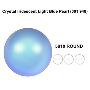 CRYSTAL-IRIDESCENT-LIGHT-BLUE-PEARL-001-948-Genuine-Swarovski-5810-Round-NEW