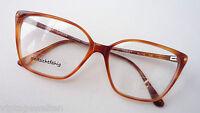 Lozza Acetat Vintagebrille tief gezogene Glasform in Hornoptik GR:L 55-14 70s