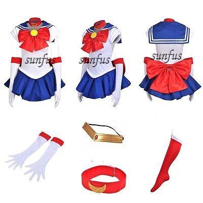 New Sailor Moon SM Tsukino Usagi Dress party Cosplay Costume & petticoat