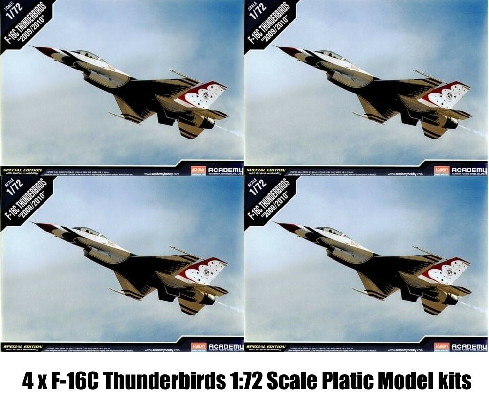 4 x Academy 12429 Plastic Model F-16C F16 F-16 1 72 Airfix Type kit New Boxed
