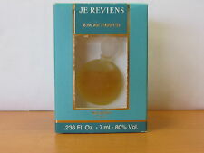 Je Reviens By Worth Perfume 7 ml Eau De Parfum Splash MINIATURE  RARE