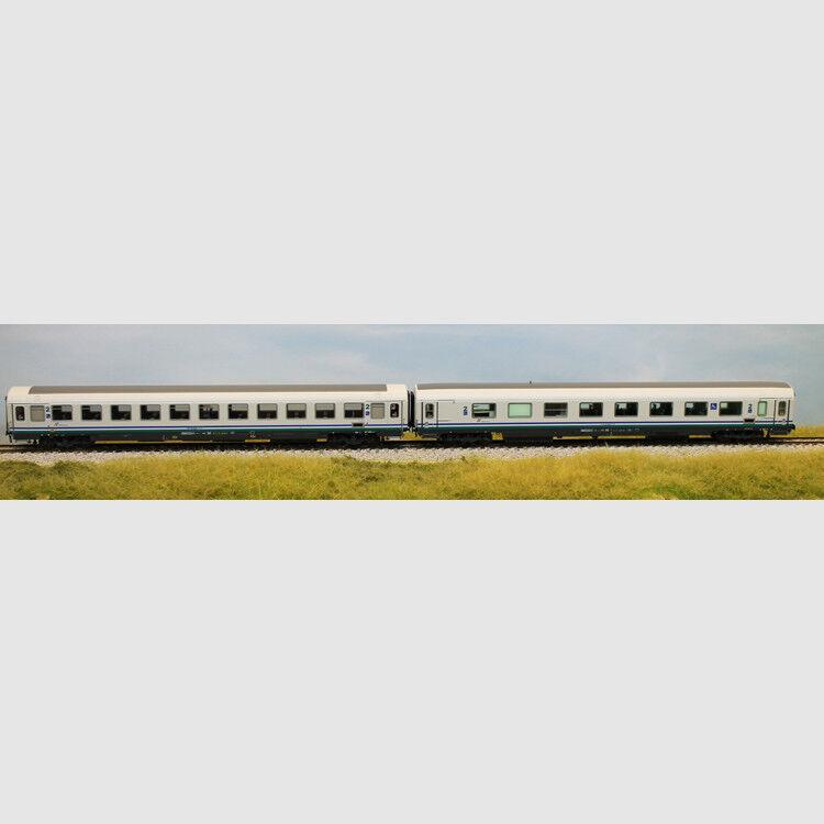 Set 2 carrozze GC nella Coloreeeazione XMPR per treni IC - Art. Acme 55163