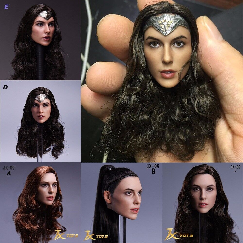 Hot Toys Wonder Woman 1 6 Scale Gal Gadot Female Head Carved For 12  Phicen Body