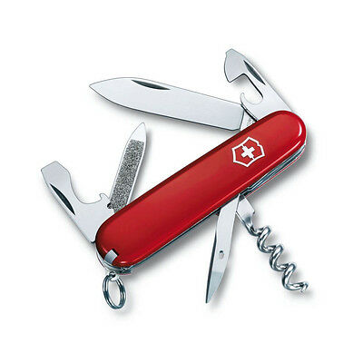 VICTORINOX SPORTSMAN RED - SWISS ARMY POCKET KNIFE 84 MM - 13 TOOLS