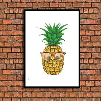 funky pineapple quote a4 picture Print poster  gift UNFRAMED