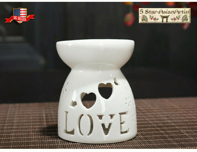 Great Decoration for Living Room Vase Shape Patio Aromatherapy Essential Oil Burner Porch and Garden Balcony Ivenf Ceramic Tea Light Holder