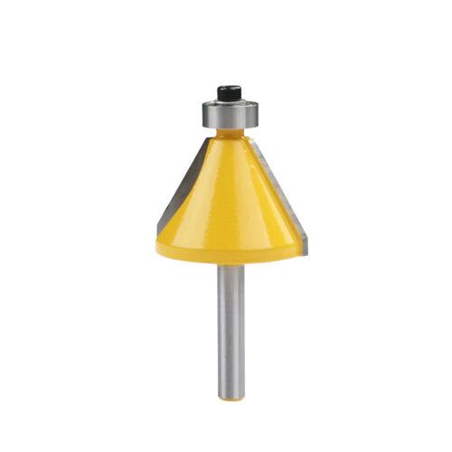30 Degré chanfrein chanfrein Bordure Routeur Bit 1//4 pouces Shank Boiseries Cutter #D