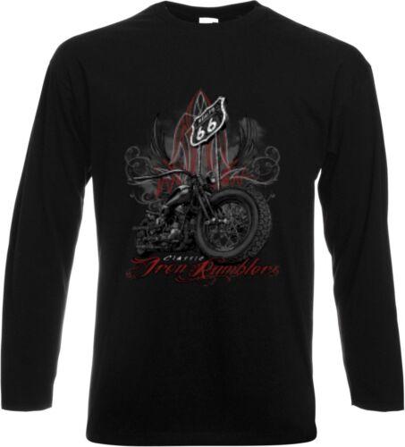 Long Sleeve//Long Sleeve Shirt Black HD Biker Chopper /& Oldschool Motif Pants Pin