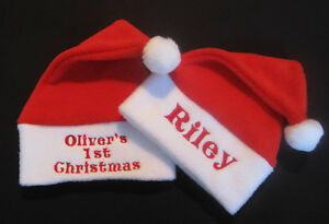 Personalised Cute Any Name Baby Christmas Santa Hat Gift My 1st Xmas ... 00a2e61aff0