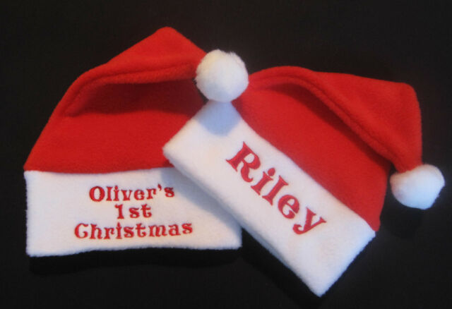 Personalised Cute Any Name Baby Christmas Santa Hat Gift My 1st Xmas