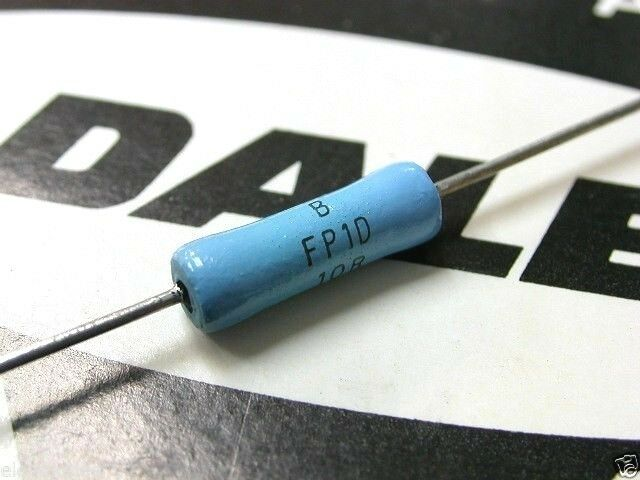 2pcs - DALE FP1 10R 1W 1% 500V Metal Film Resistor - For Audio