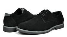 Bruno Marc Men's Wrangle Black Suede Leather Lace up Oxfords Shoes - 9 M US