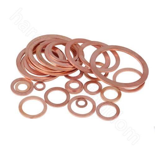 Unterlegscheiben Kupfer Beilagscheiben Copper Flat Washers M5 M6 M8 M10 M12-M48