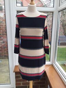 Phase-Eight-Horizontal-Stripes-Strech-Dress-Size-12