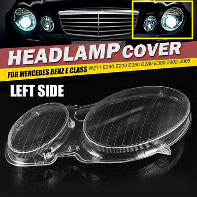 Left Headlight Headlamp Lens Clear Lens Cover For Benz W211 E350//300//200 2002-08