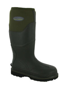 Wyre-Valley-Trent-Neoprene-Waterproof-Mucker-Mens-Farmer-Wellington-Boots-UK5-12