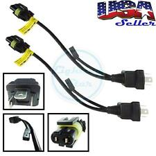 2pcs Easy Relay Harness For H4 9003 Hi/Lo Bi-Xenon HID Bulbs Wiring Controllers